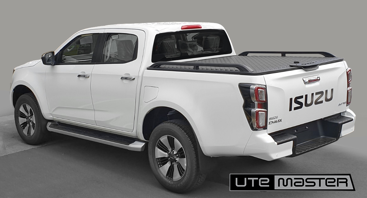 2021 Isuzu D Max with Utemaster Load Lid Ute Hard Lid Black Tough