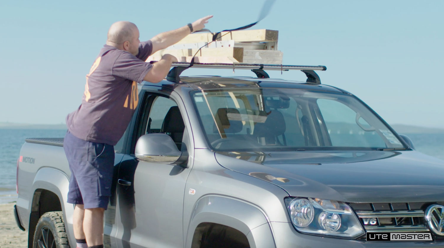 Insecure Roof Rack Load  Dropracks by Utemaster Roof Racks Lowerable Roof Access