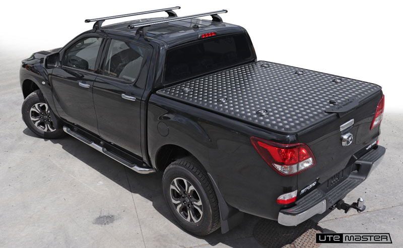 Hard Lid to suit Mazda BT50 Roller Shutter Tonneau Cover Alternative Load Lid by Utemaster Tough Black