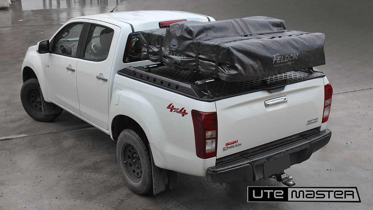 How to fit a roof top tent Utemaster Load Lid to suit Isuzu D Max with Roof Top Tent on Tub Wellside